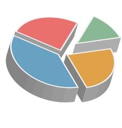 Isometric pie chart vector