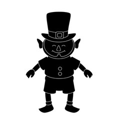 Leprechaun comic character icon vector
