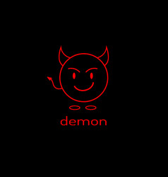 logo as a linear devil icon graphics vector image