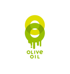 Logo olive oil transparent double o packaging vector