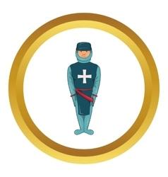 Man in blue uniform icon vector image
