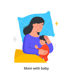 mom and son concept vector image