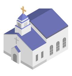 Monastery church icon isometric style vector