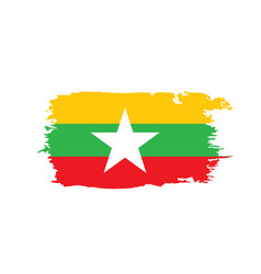 Myanmar flag vector