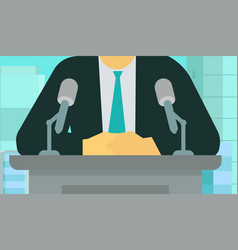 official news release man making speech vector image
