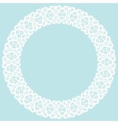 Openwork round frame vector image
