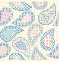 Paisley in patchwork style vector