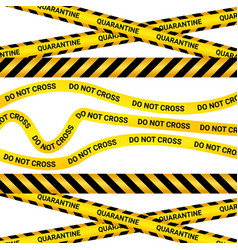 Quarantine tape isolated warning sign vector