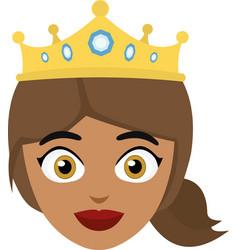 queen head vector image