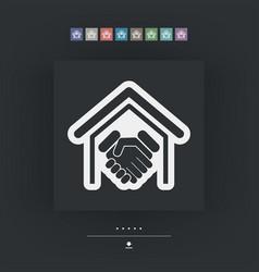 real estate handshake vector image