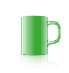 Realistic mug vector image