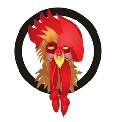 rooster symbol 2017 on the vector image