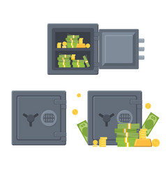 safe box for money business and finance safety vector image