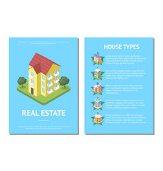 Sale real estate banner with condo buildings vector