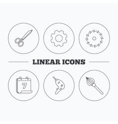 Scissors drill and repair tools icons vector image