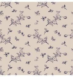 seamless pattern vintage floral vector image