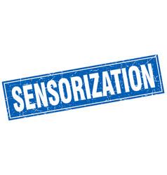Sensorization square stamp vector
