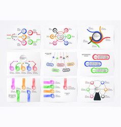 set of infographics element with technology vector image