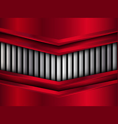 Silver and red metal background vector