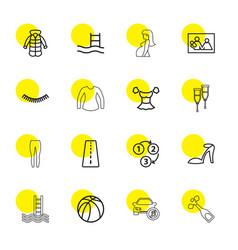 sketch icons vector image