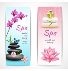 Spa vertical banners vector image