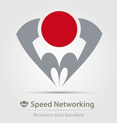 Speed networking business icon vector image