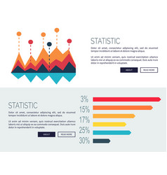 statistic presentation colored web page design vector image