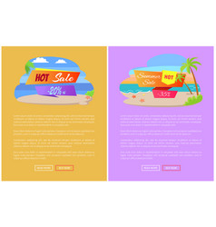summer sale best discount set posters online pages vector image
