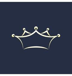 symbol crown vector image