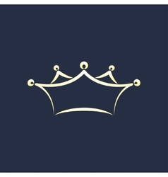 Symbol of crown vector