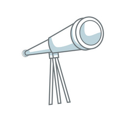 Telescope icon observe instrument find business vector