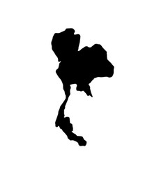Thailand map silhouette vector
