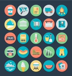 Travel colored icons 4 vector