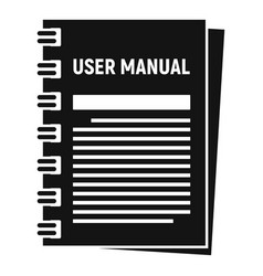 User manual icon simple style vector