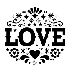 valentines day greeting card - love vector image