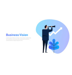 Vision and growth concept businessman looks vector