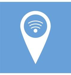 Wi-fi pointer white icon vector
