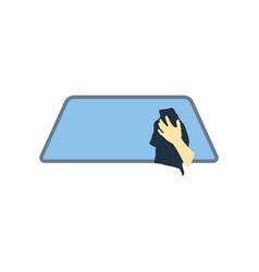 Wipe car window icon vector