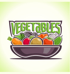 dish vegetables still life vector image