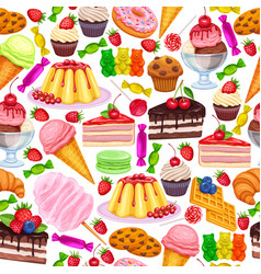 seamless pattern with confectionery vector image