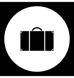 simple travelling case isolated black icon eps10 vector image vector image