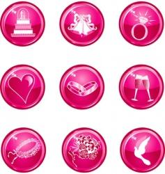 wedding button icons vector image vector image