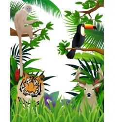wild animal vector image vector image