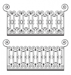 wrought iron fence vector image