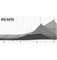 Abstract monochrome financial big vector