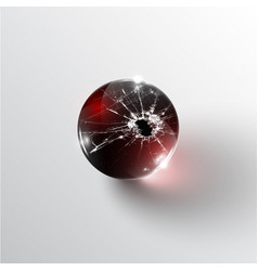 Broken glass sphere vector