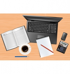 notebook and phone vector image vector image