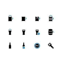 Beer duotone icons on white background vector image