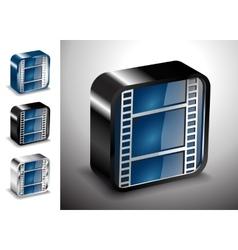 button icons multimedia cinema media vector image