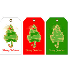 set of christmas tags vector image vector image